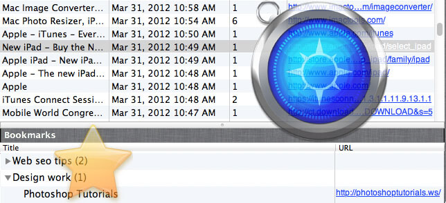 how to find internet history on mac