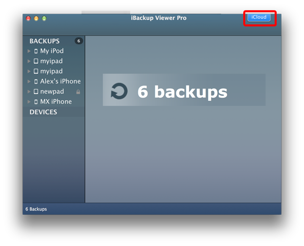 Extract data from iCloud Backups for iPhone and iPad